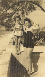 My mother and grandmother at Varadero Beach, 1958