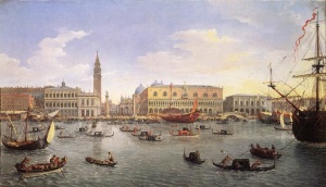 Venice: The Molo Seen from the Bacino di San Marco, Canaletto (commons.wikimedia.org)