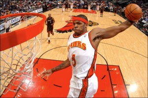Josh Smith won't be enough for the Hawks to get by the Pacers. (powerade_2008 - photobucket)