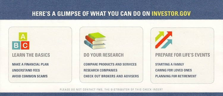 Us government gives advice on how to invest money - Office of investor education and advocacy ...