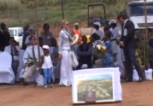 Madonna in Malawi in 2010.