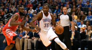 James Harden will try to match Kevin Durant in their first-round series.