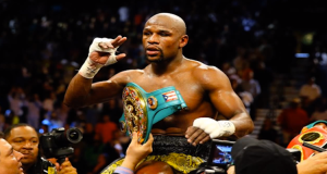 Mayweather dominated Robert Guerrero Saturday night.