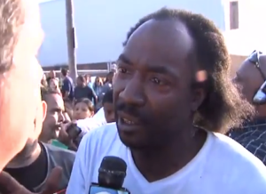 Charles Ramsey (Screen shot taken from http://www.youtube.com/watch?v=axCn04iXkBg)