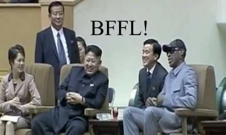 Screenshot from http://www.dailymail.co.uk/news/article-2536324/The-laughing-dictator-Kim-Jong-Un-jokes-pal-Dennis-Rodman-basketball-star-admits-drinking-offensive-remarks-captive-American-Kenneth-Bae.html