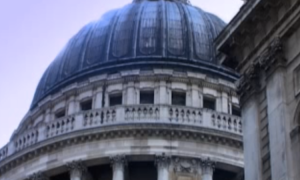 Dome of St. Paul's Cathedral in London. Screenshot taken from http://youtu.be/b42eSEdEtFs