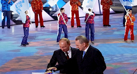 Winter Olympics in a sub-tropical region of Russia ... what could go wrong? (Screen shot from http://youtu.be/LQLNQOT0XPE)