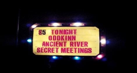 Ancient River's name in lights in El Paso