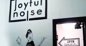 Inside of Joyful Noise Records