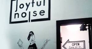 Inside of Joyful Noise Records