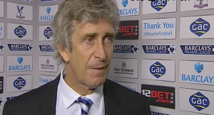 Manuel Pelligrini, manager of Manchester City