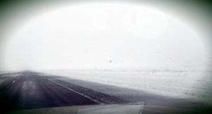 Ancient River drives through a snowstorm en route to Denver