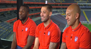 USMNT members Altidore, Dempsey and Howard talk before Brazil