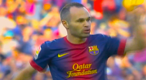 Andres Iniesta was one of the key figures in Barcelona and Spain's recent run of dominance. (Screen shot from http://youtu.be/VHCYBsGxOJ0)