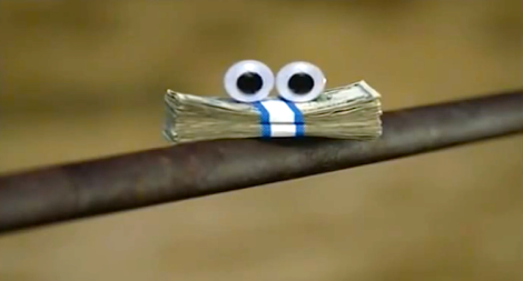 Money with eyes