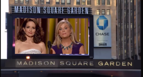 Tina Fey and Amy Poehler at Golden Globes