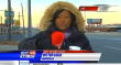 News reporter is cold