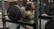 cheerleader squats 300 pounds