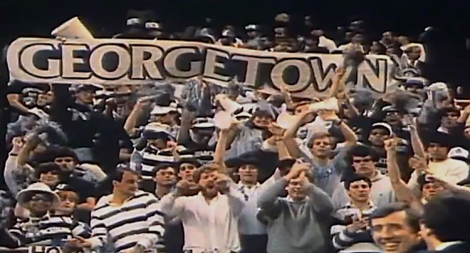 Georgetown fans at the 1982 NCAA tournament