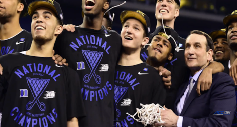Duke celebrates 2015 title
