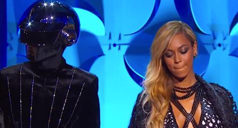 Beyonce and a robot
