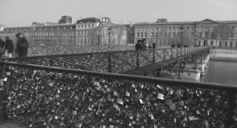 The lock bridge in Paris