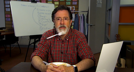 Stephen Colbert with a beard