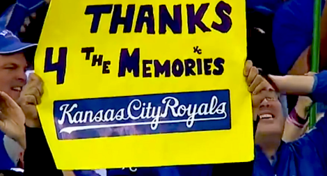 Kansas City Royals sign made by fan